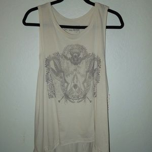 Free People WE THE FREE Army of Lovers Fringe Top